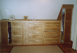 Ash Bedroom Furniture Built into Eaves